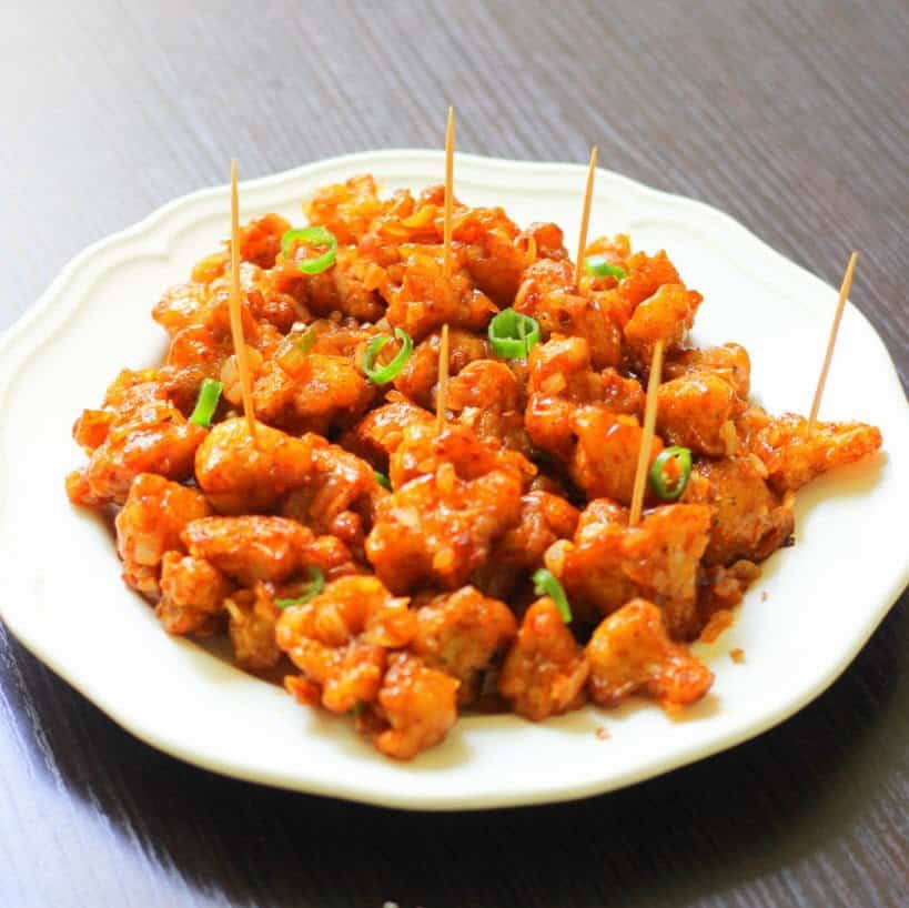 Gobi Cauliflower Manchurian Dry Appetizers Vegan Cauliflower Recipes